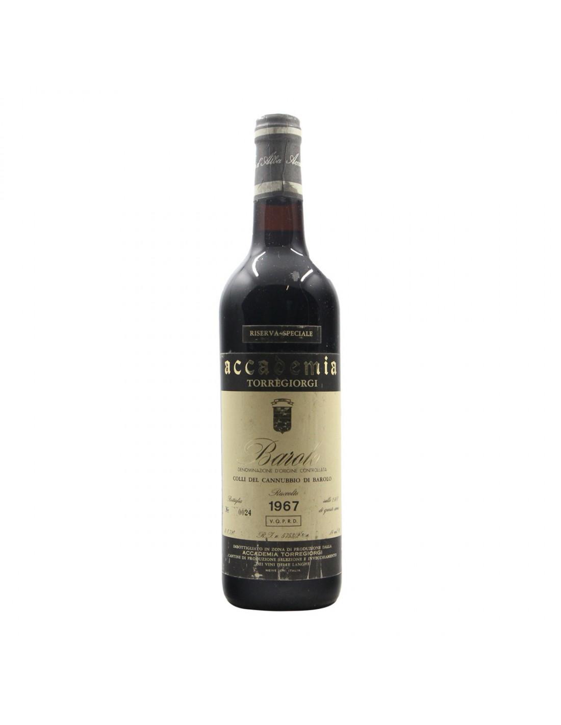 BAROLO CANNUBBIO RISERVA SPECIALE 1967 ACCADEMIA TORREGIORGI Grandi Bottiglie