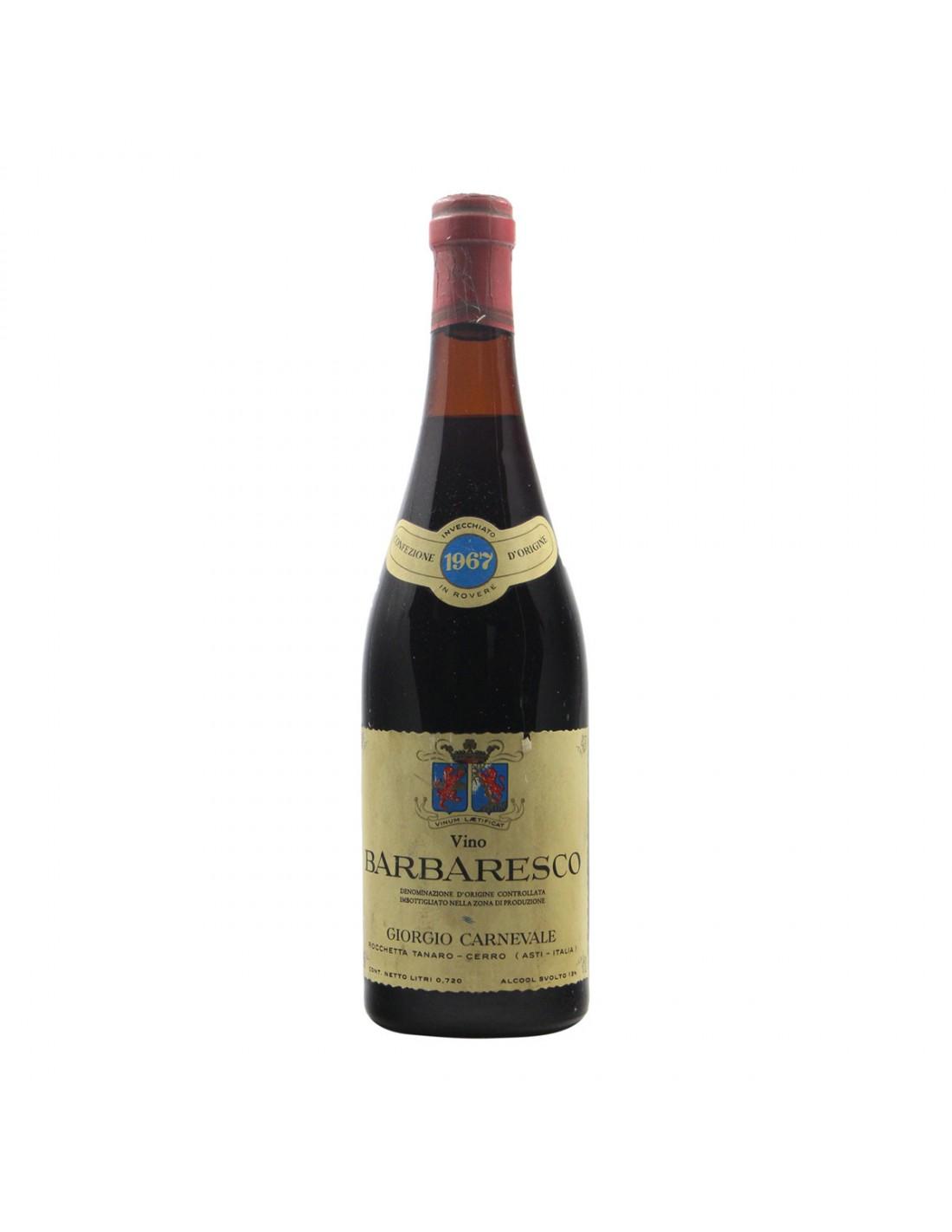 BARBARESCO 1967 GIORGIO CARNEVALE Grandi Bottiglie