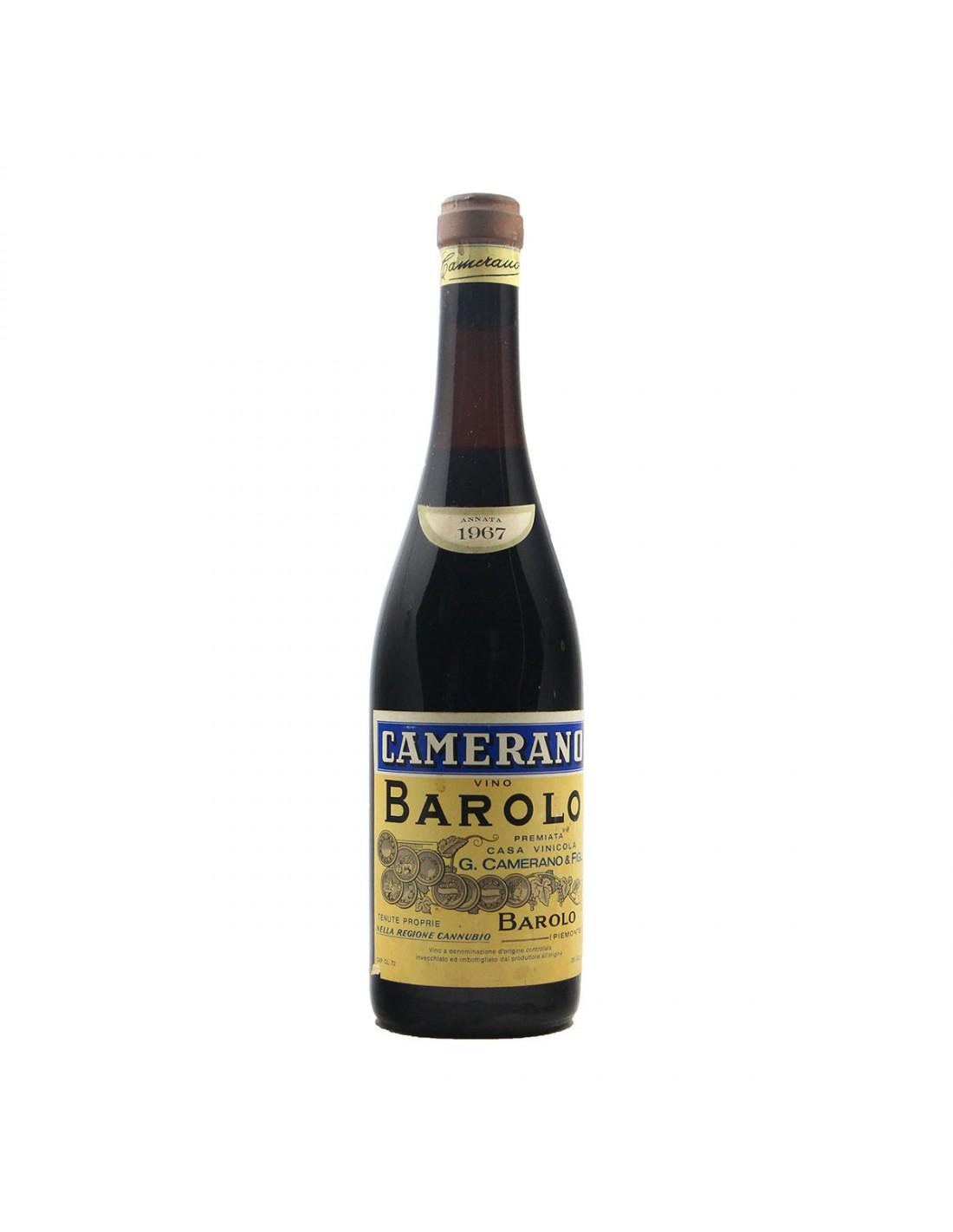 BAROLO CANNUBIO 1967 CAMERANO Grandi Bottiglie