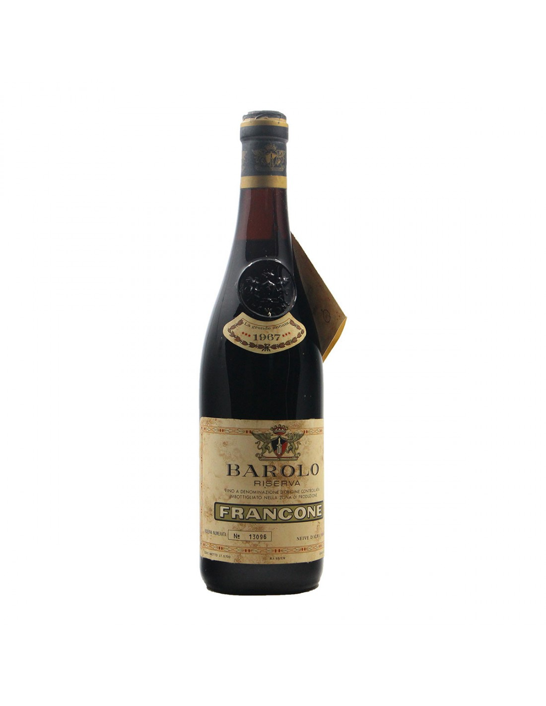 BAROLO RISERVA 1967 FRANCONE Grandi Bottiglie