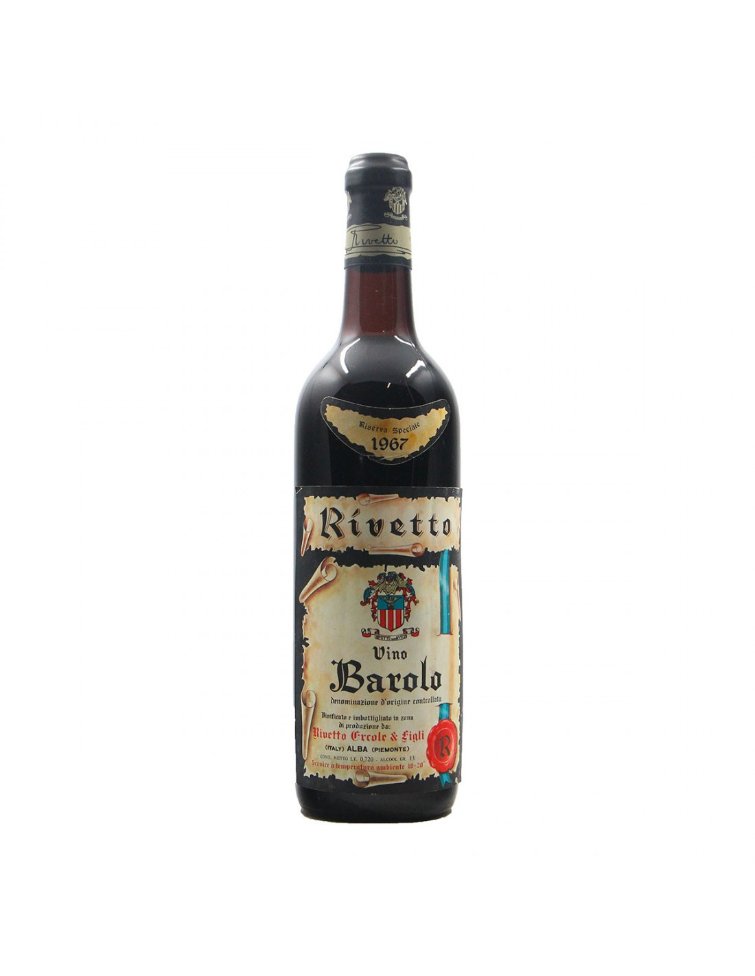 BAROLO RISERVA SPECIALE 1967 RIVETTO ERCOLE Grandi Bottiglie