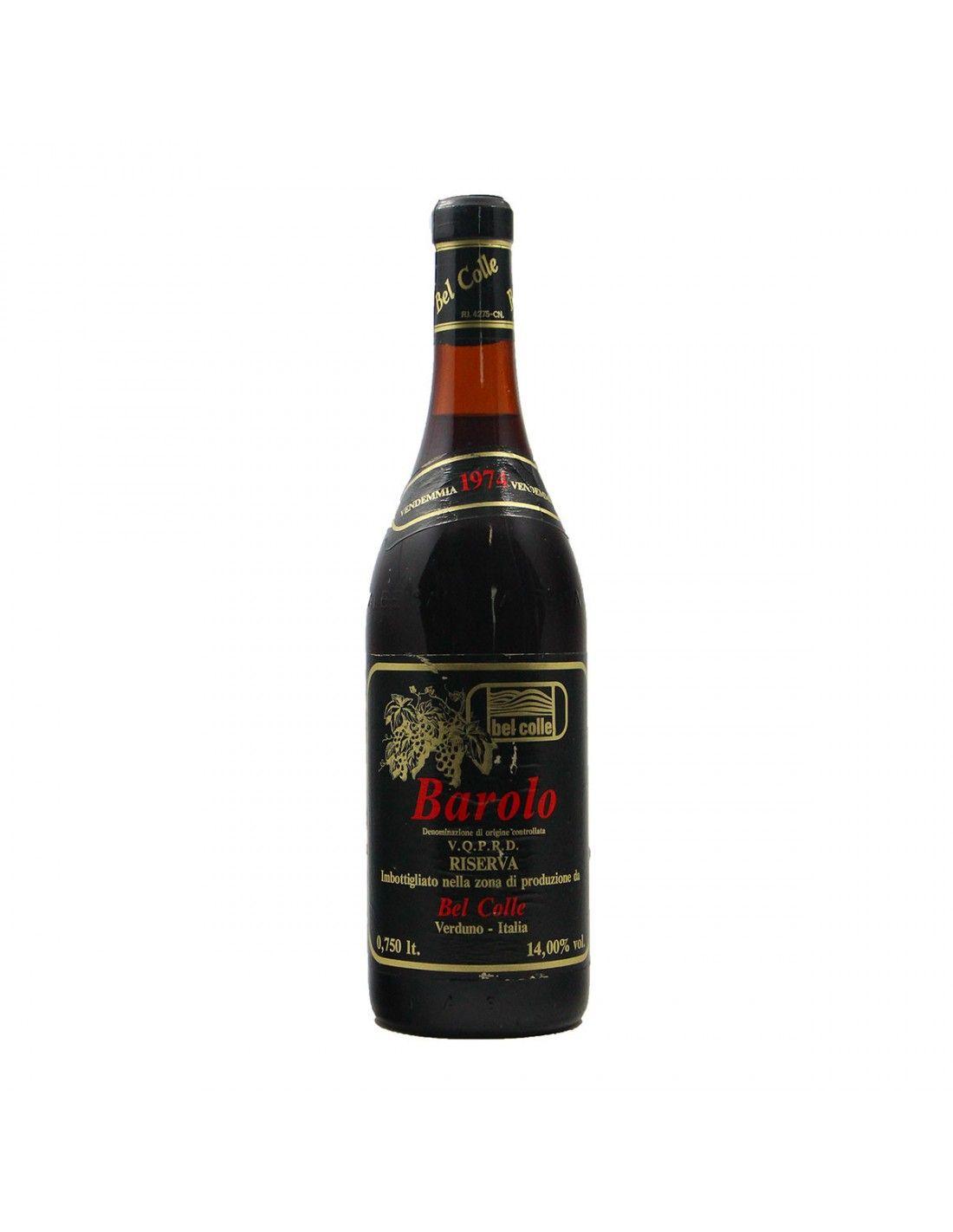 BAROLO 1974 BEL COLLE Grandi Bottiglie