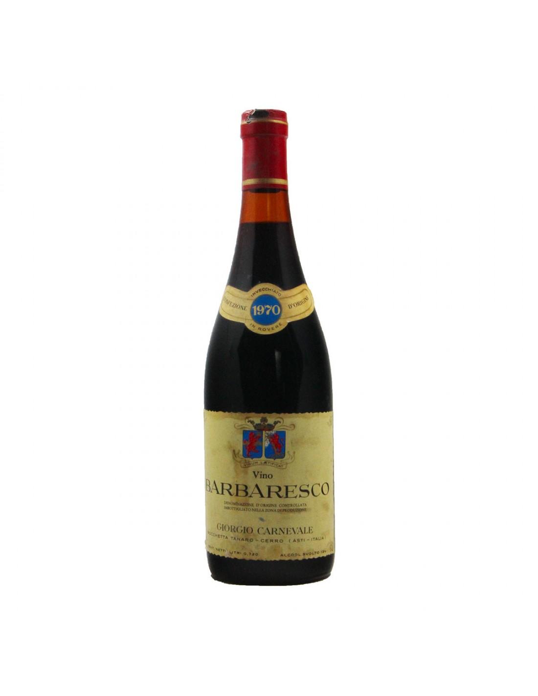 BARBARESCO 1970 GIORGIO CARNEVALE Grandi Bottiglie