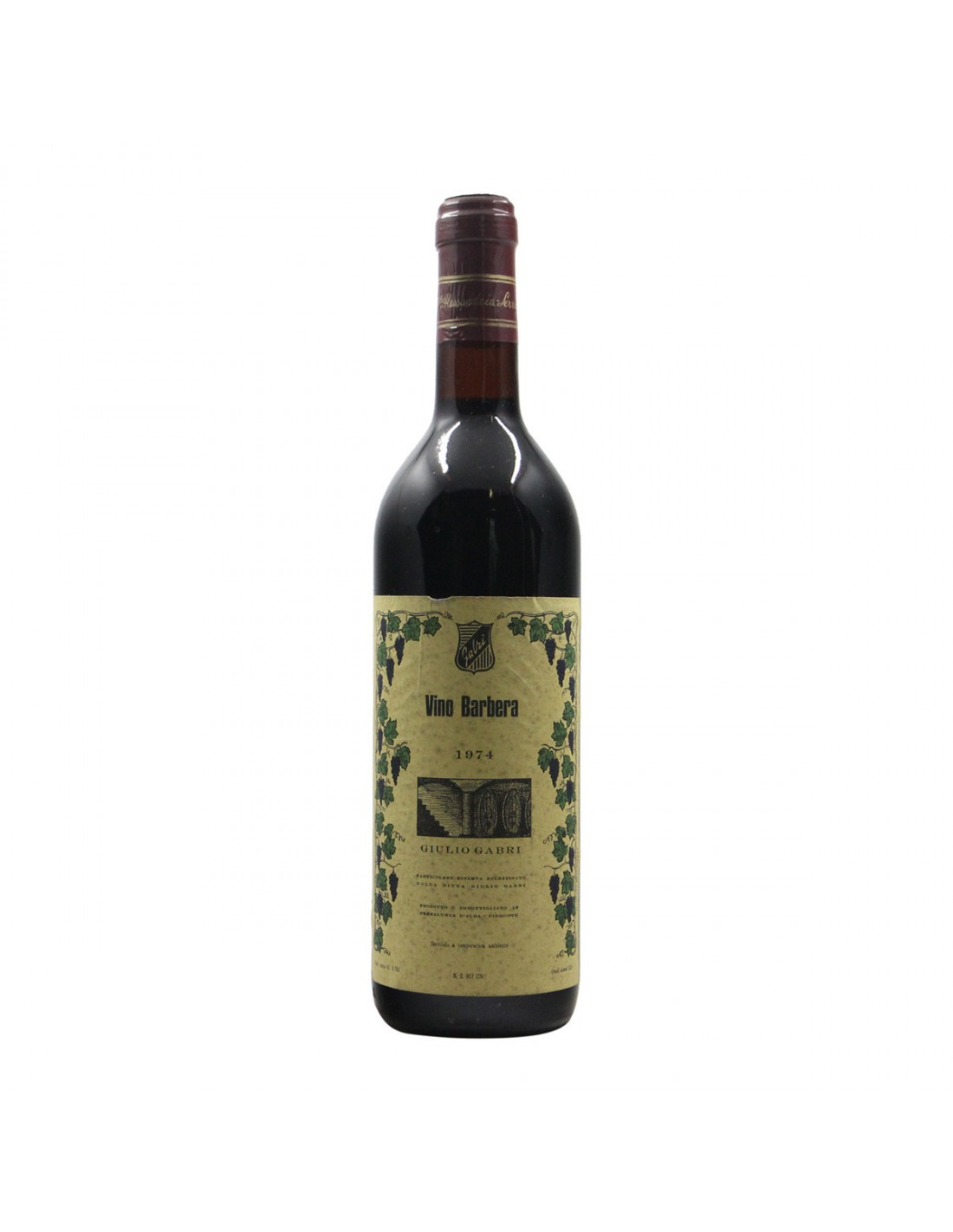 BARBERA 1974 GABRI Grandi Bottiglie