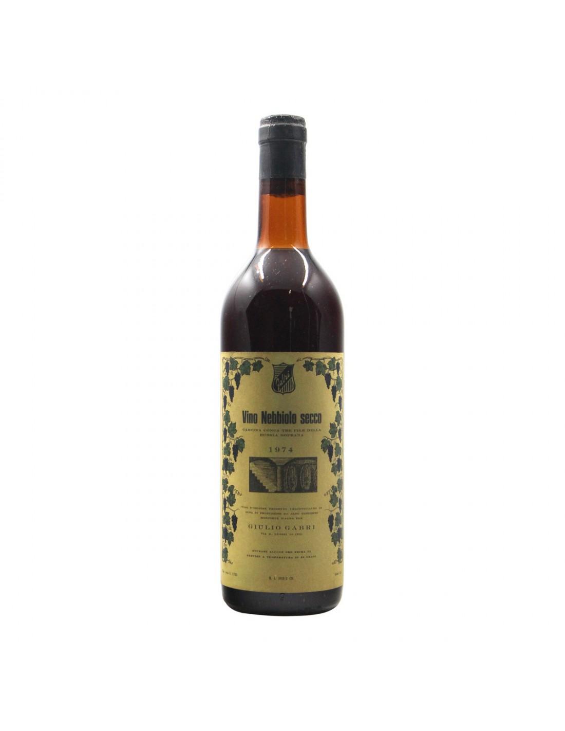 NEBBIOLO SECCO 1974 GABRI Grandi Bottiglie