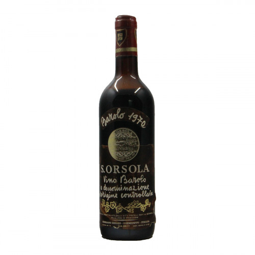 BAROLO 1970 S.ORSOLA Grandi Bottiglie