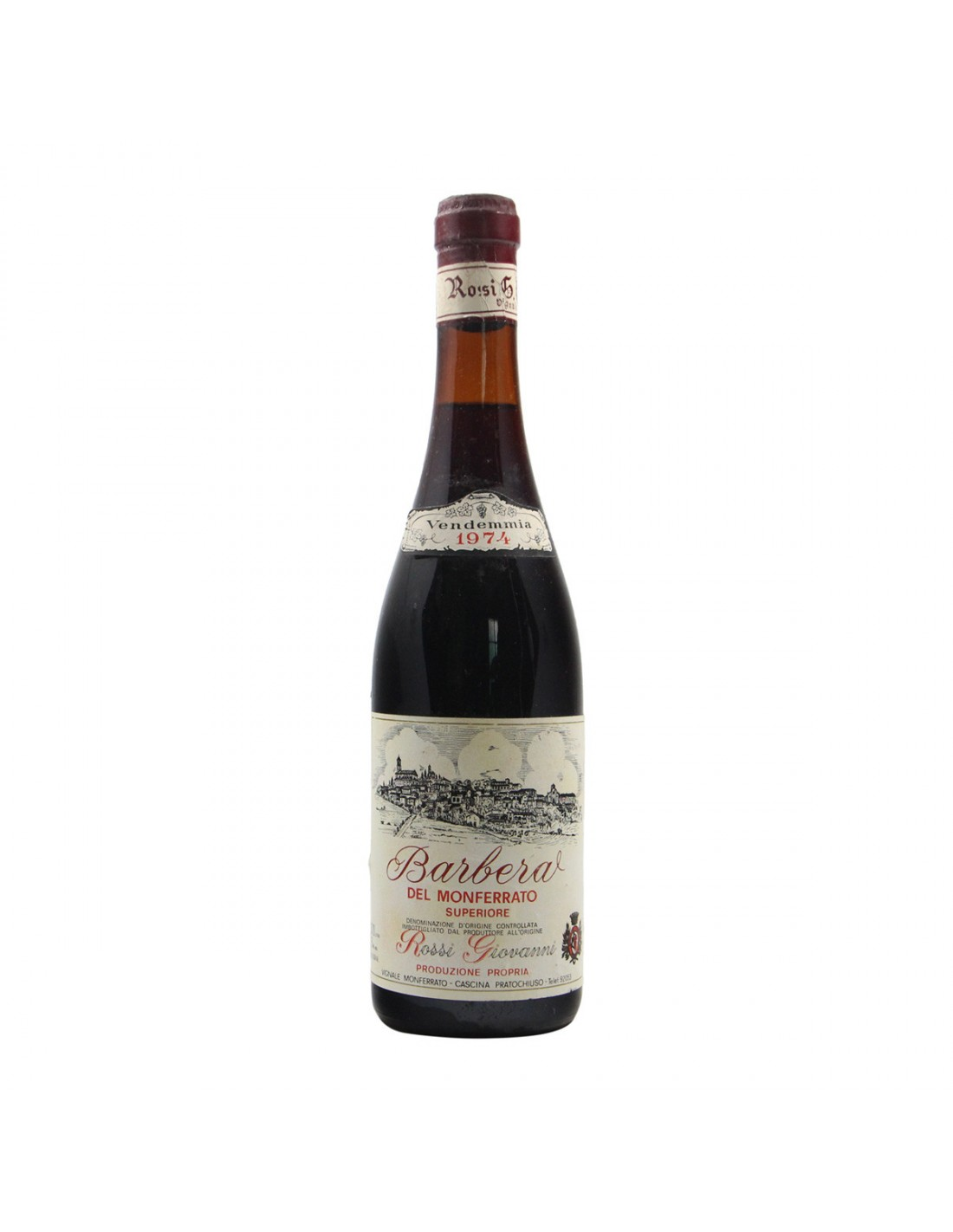 BARBERA D ASTI 1974 ROSSI GIOVANNI Grandi Bottiglie