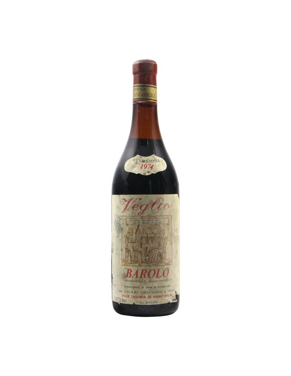 BAROLO 1974 VEGLIO GIOVANNI Grandi Bottiglie