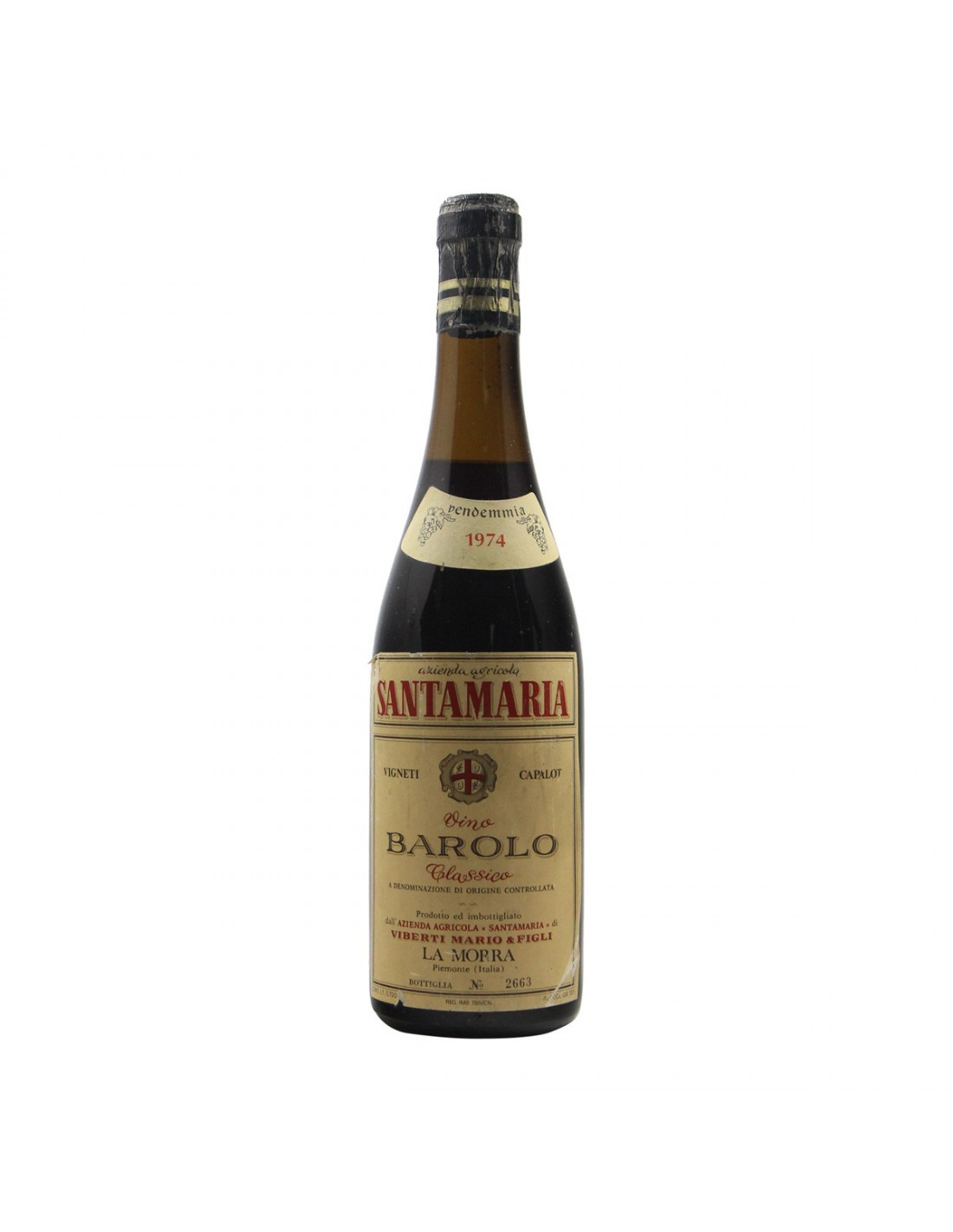 BAROLO CAPALOT 1974 VIBERTI MARIO Grandi Bottiglie