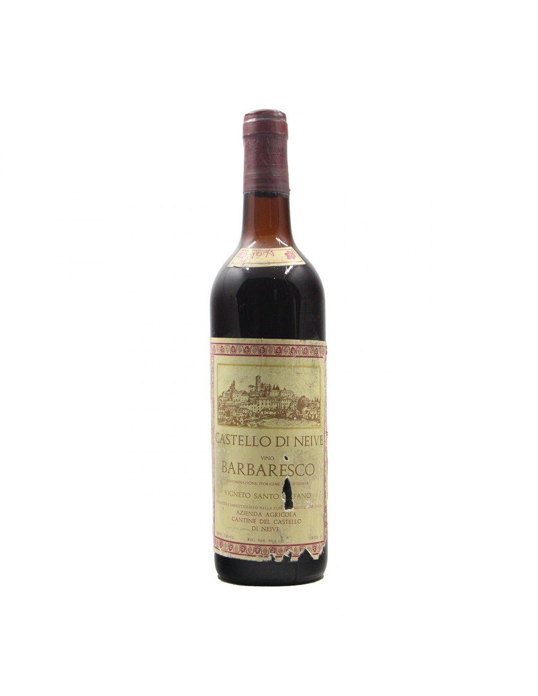 BARBARESCO LOW LEVEL 1971 CASTELLO DI NEIVE Grandi Bottiglie