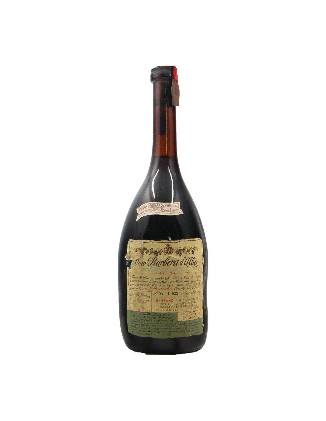 BARBERA RISERVA DELLA MERIDIANA 1.49 L 1973 BERSANO Grandi Bottiglie