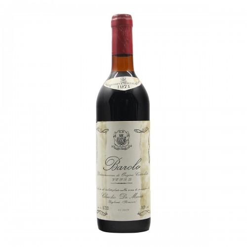 BAROLO RISERVA SPECIALE 1971 DE MARIA Grandi Bottiglie