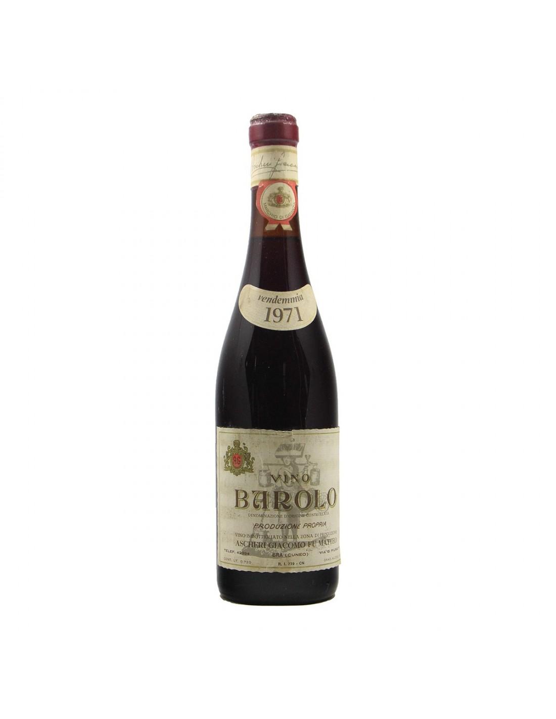 BAROLO 1971 ASCHERI GIACOMO Grandi Bottiglie