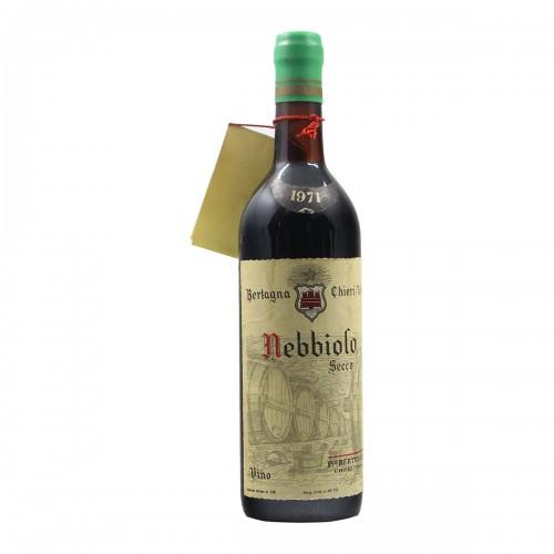 NEBBIOLO SECCO 1971 BERTAGNA Grandi Bottiglie