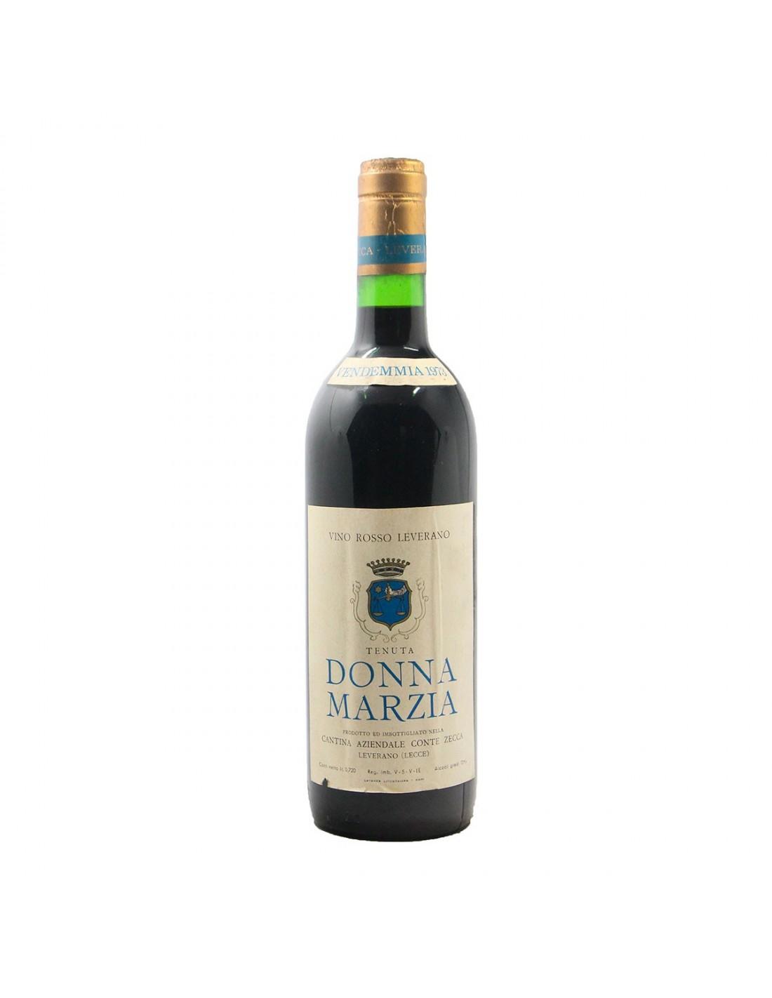 Vino Rosso Tenuta Donna Marzia 1973 CONTI ZECCA GRANDI BOTTIGLIE