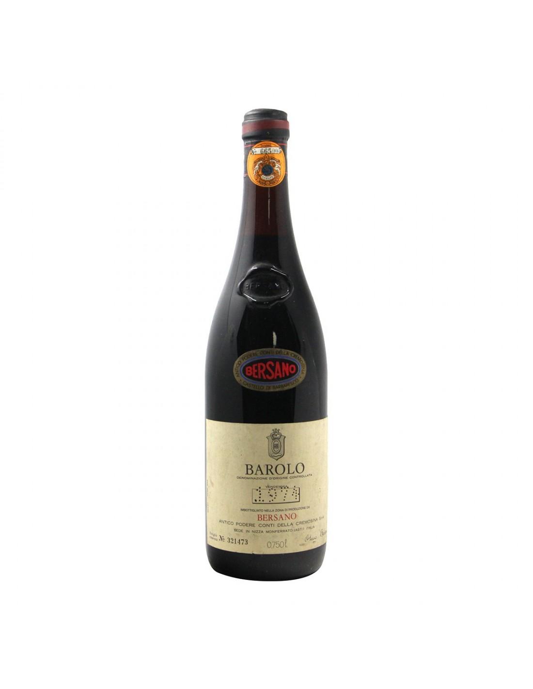 BAROLO 1974 BERSANO Grandi Bottiglie