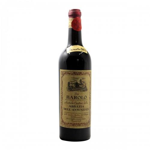BAROLO ABBAZIA ANNUNZIATA 1962 RATTI Grandi Bottiglie