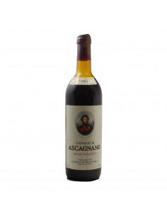 VINO DA TAVOLA ROSSO 1983 CASTELLO DI ASCAGNANO Grandi Bottiglie