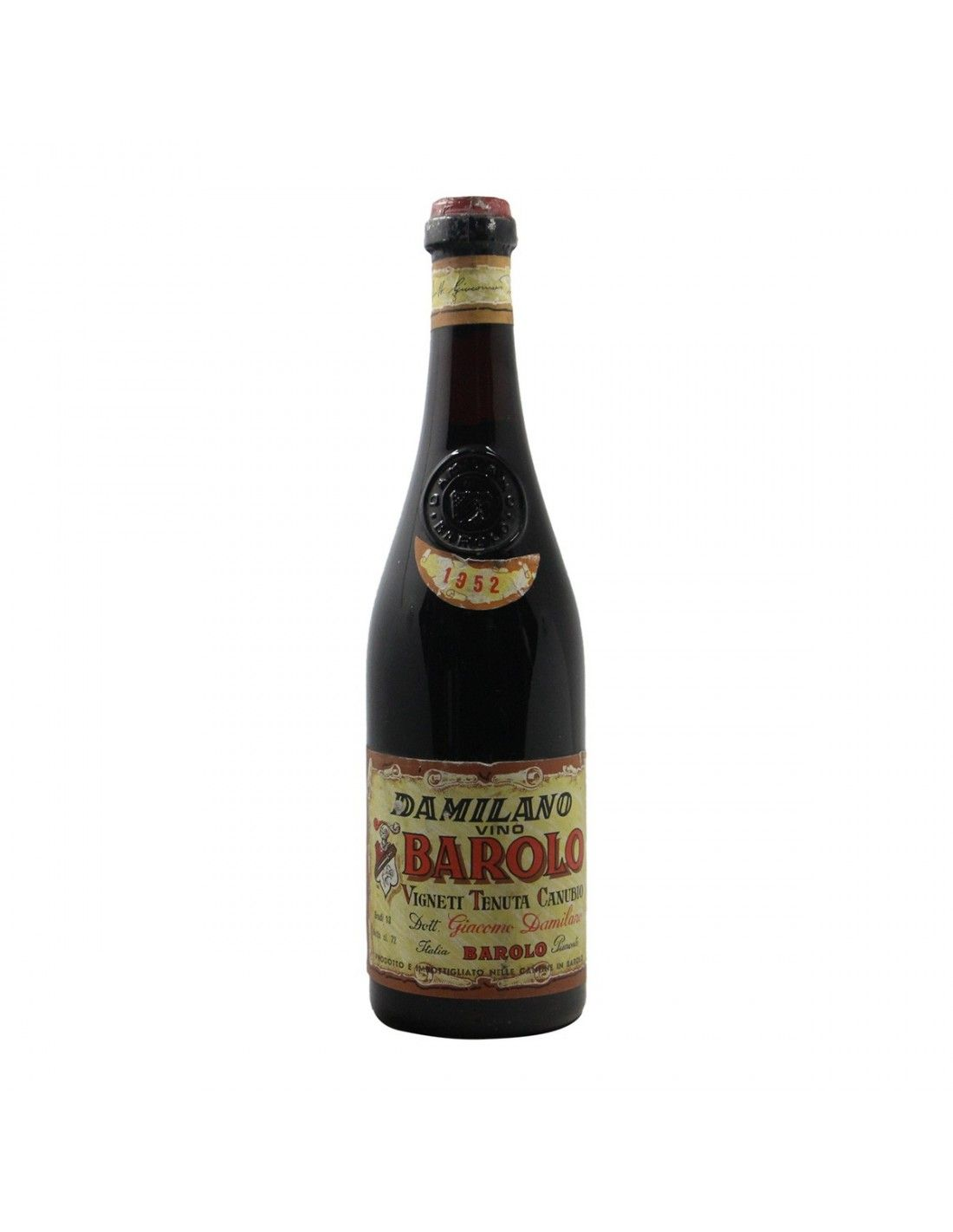BAROLO CANUBIO 1952 DAMILANO Grandi Bottiglie