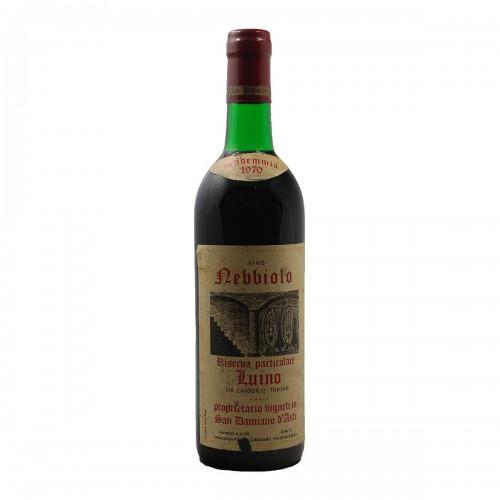 NEBBIOLO RISERVA PARTICOLARE LUINO 1970 SCANAVINO Grandi Bottiglie
