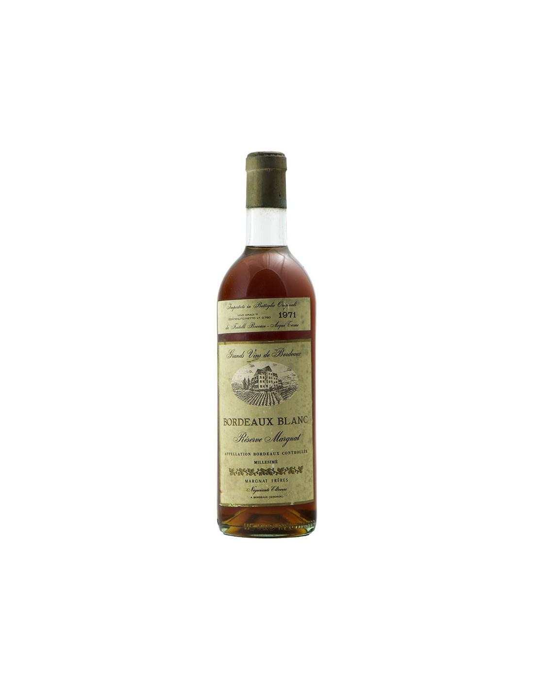 Bordeaux Blanc 1971 MARGNAT FRERES GRANDI BOTTIGLIE