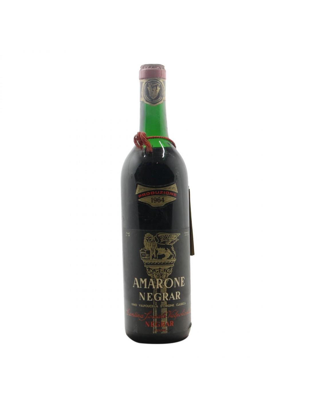 AMARONE NEGRAR 1964 CANTINA SOCIALE DELLA VALPOLICELLA Grandi Bottiglie