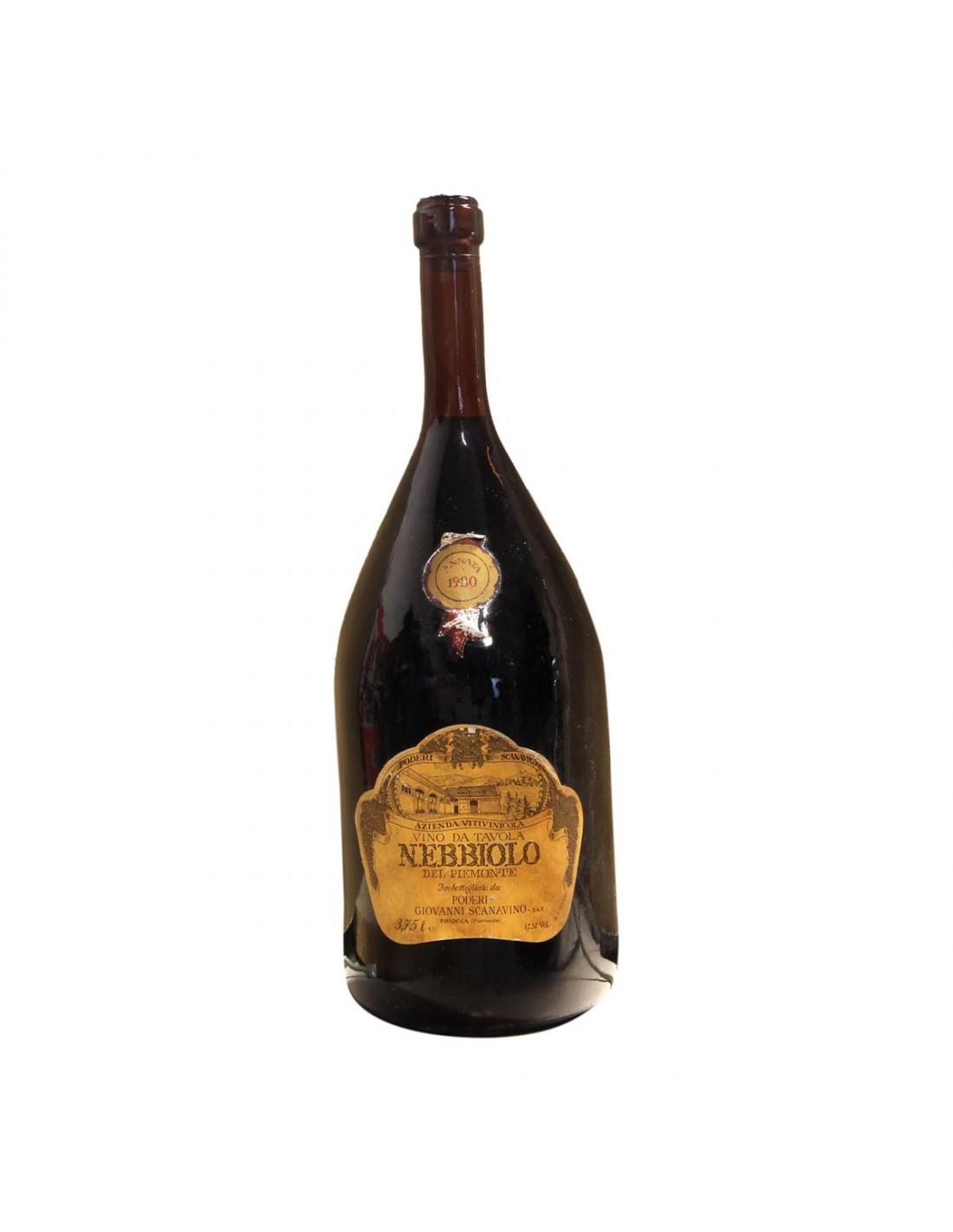 NEBBIOLO DEL PIEMONTE 3,75L 1980 SCANAVINO Grandi Bottiglie