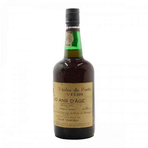 VINHO DO PORTO VELHO 20 ANS D'AGE NV REAL COMPANHIA VINICOLA Grandi Bottiglie