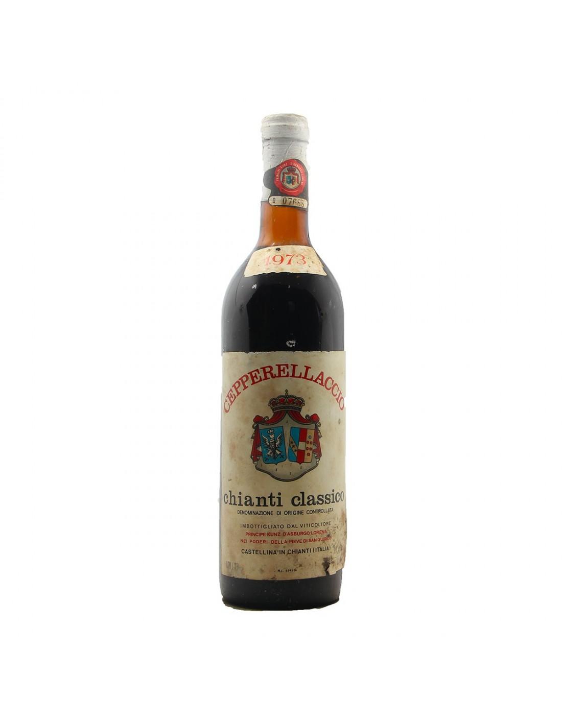 CHIANTI CLASSICO CEPPERELLACCIO 1973 PRINCIPE KUNZ D'ASBURGO LORENA Grandi Bottiglie