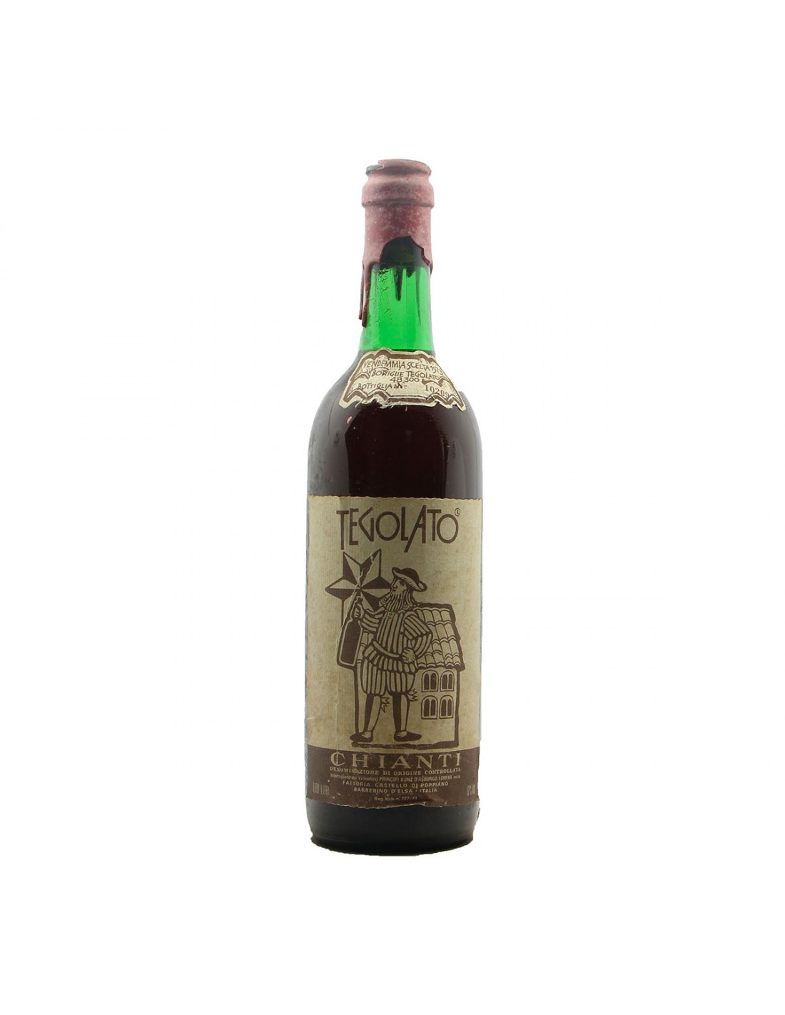 CHIANTI TEGOLATO 1973 PRINCIPE KUNZ D'ASBURGO LORENA Grandi Bottiglie