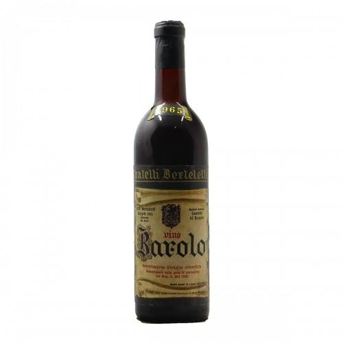 BAROLO CASTELLO DI LOZZOLO 1965 FRATELLI BERTELETTI Grandi Bottiglie