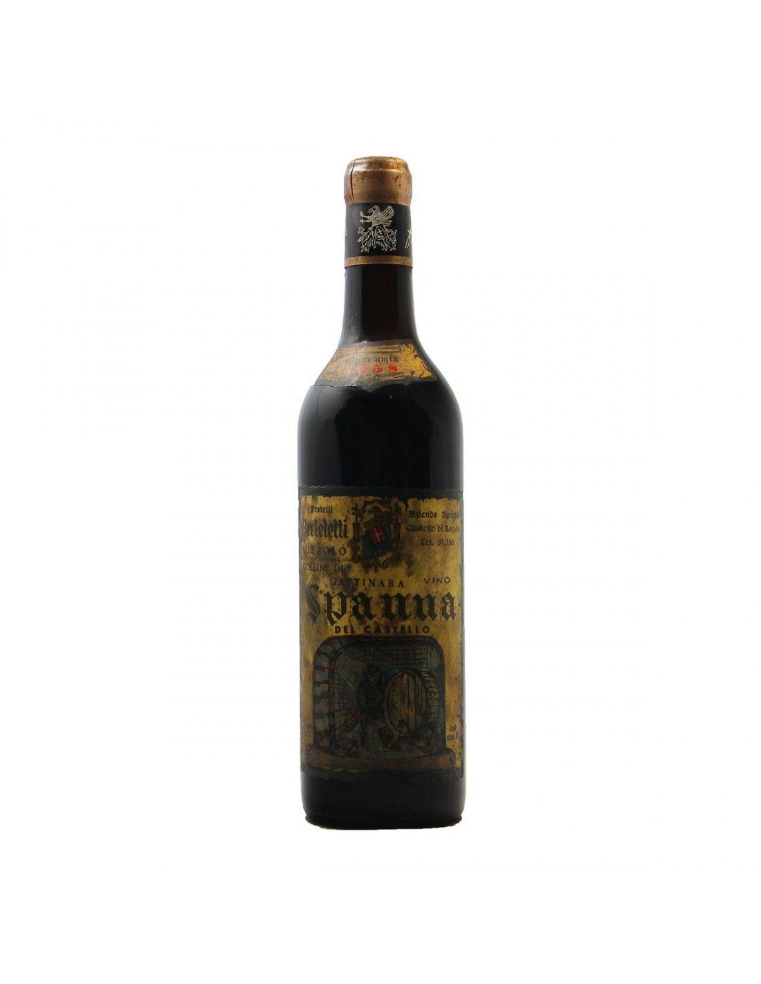 SPANNA CASTELLO DI LOZZOLO 1958 FRATELLI BERTELETTI Grandi Bottiglie