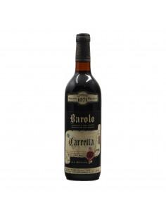 BAROLO CANNUBI RISERVA SPECIALE 1971 TENUTA CARRETTA Grandi Bottiglie