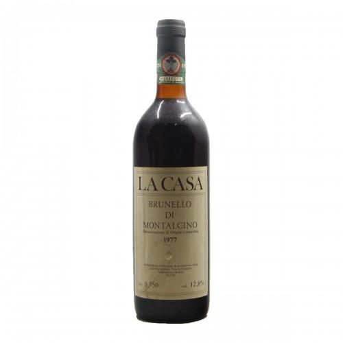 BRUNELLO DI MONTALCINO LA CASA 1977 TENUTA CAPARZO Grandi Bottiglie
