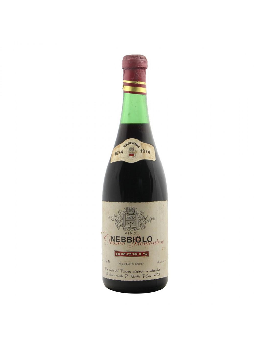 NEBBIOLO CLASSICO PIEMONTESE 1974 BECHIS Grandi Bottiglie