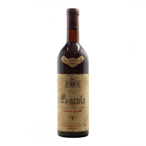 BAROLO RISERVA SPECIALE 1964 F.LLI GALLIZIA Grandi Bottiglie