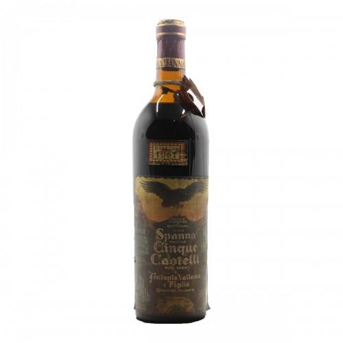 SPANNA CANTINA CINQUE CASTELLI RISERVA 1961 ANTONIO VALLANA Grandi Bottiglie