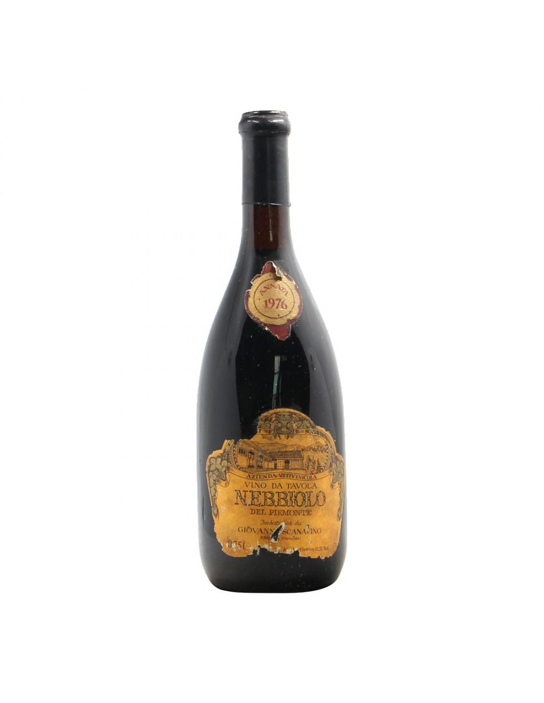 NEBBIOLO DEL PIEMONTE 1976 SCANAVINO Grandi Bottiglie