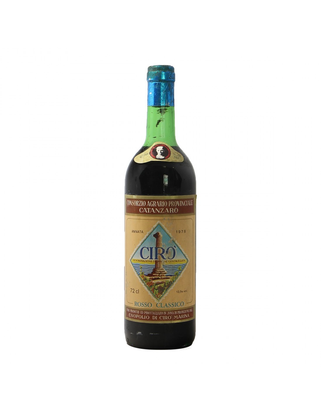 CIRO ROSSO CLASSICO 1978 CONSORZIO AGRARIO PROVINCIALE CATANZARO Grandi Bottiglie
