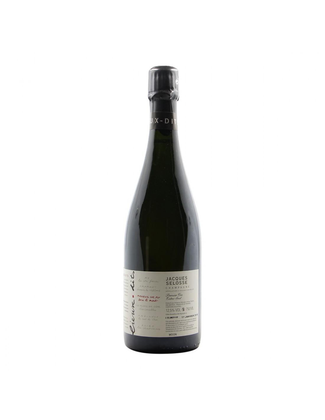 """Champagne """"Sous Le Mont"""" Blanc de Noirs Degorgement 2020 Jacques Selosse"""