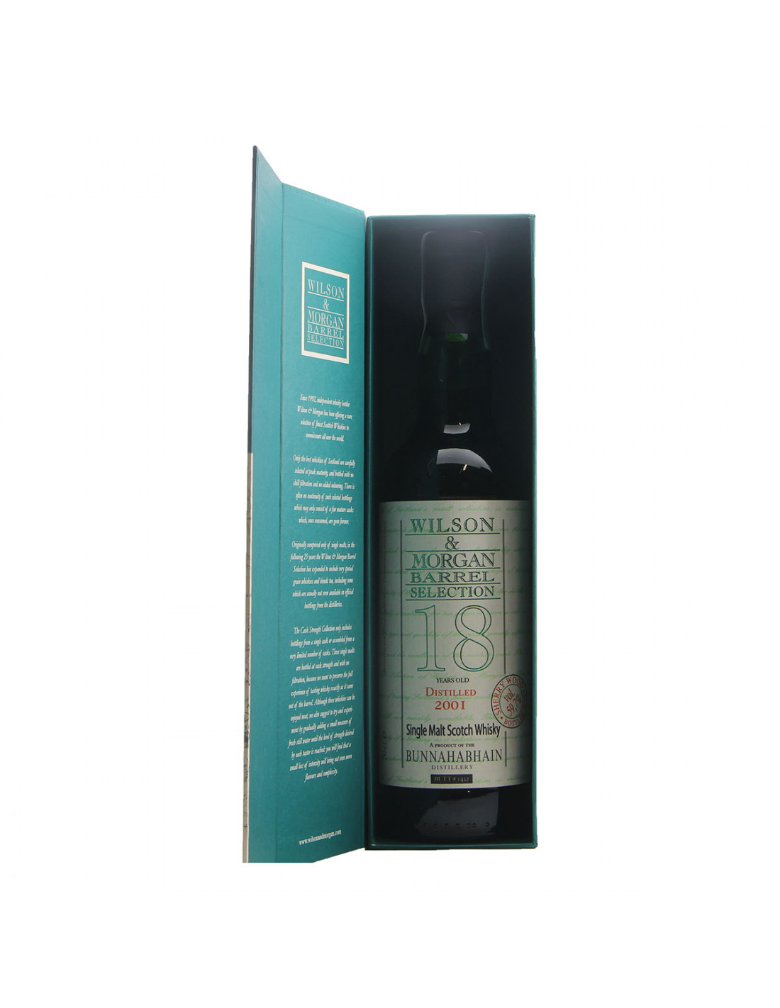 Wilson & Morgan Whisky 18YO Bunnahanhain Sherry Wood Grandi Bottiglie