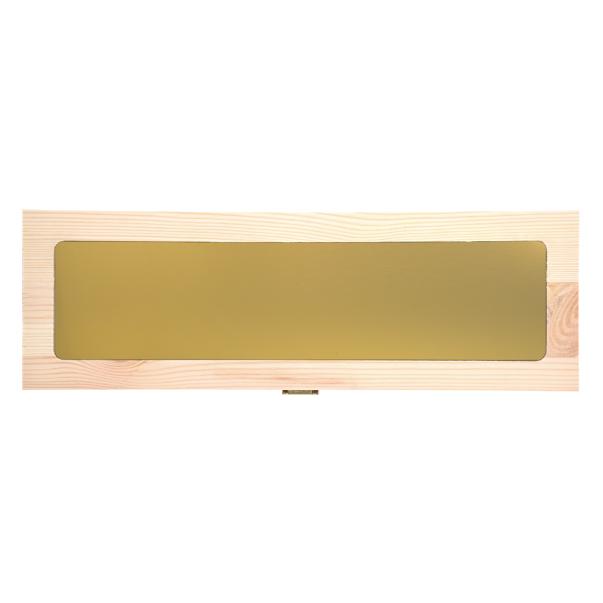Custom Engraved Wood Wine Box with Metal Foil - Single Bottle