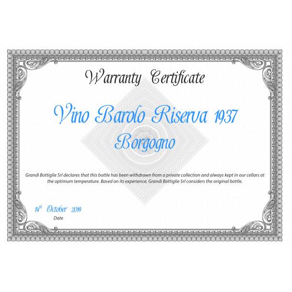 Warranty certificate - Only Original Bottles | oohwine.com