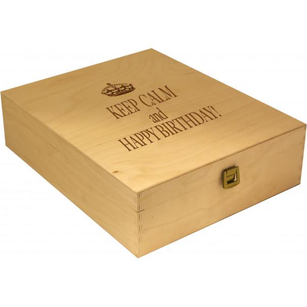 Custom Engraved Wood Wine Box - three bottles   oohwine.com
