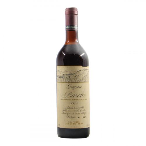 Ceretto Barolo Grignore 1974 Grandi Bottiglie