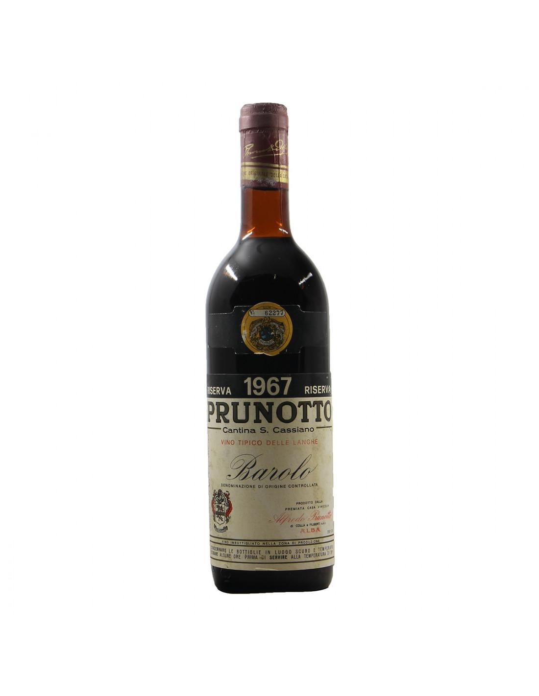 Prunotto Barolo Riserva 1967 Grandi Bottiglie