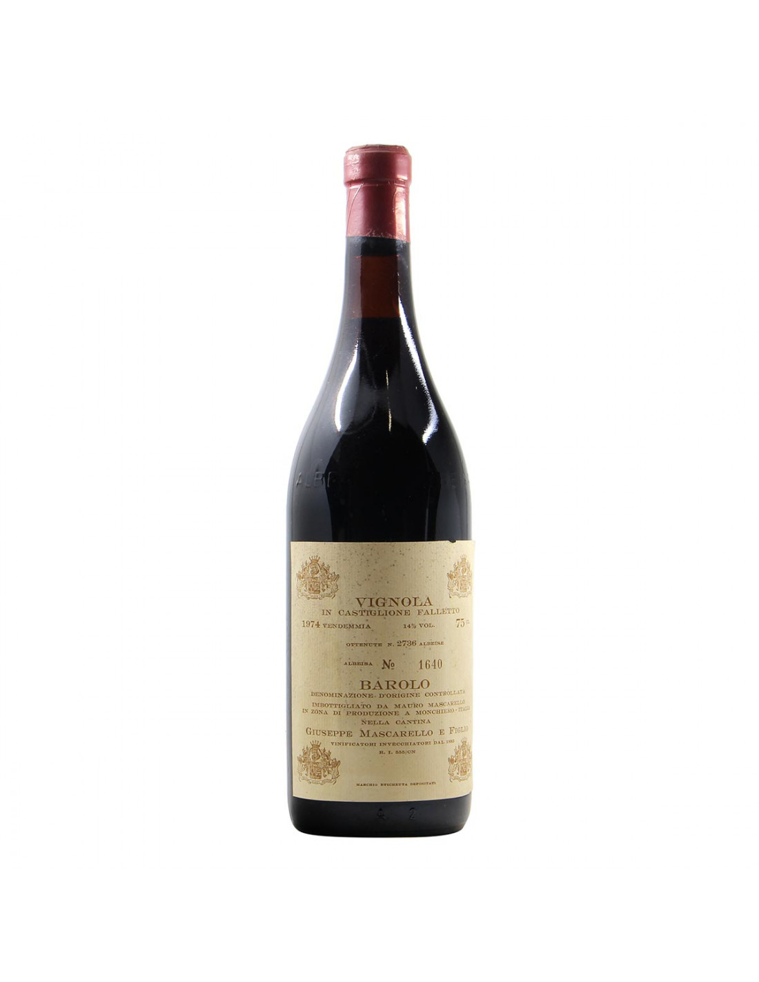 Giuseppe Mascarello Barolo Vignola 1974 Grandi Bottiglie