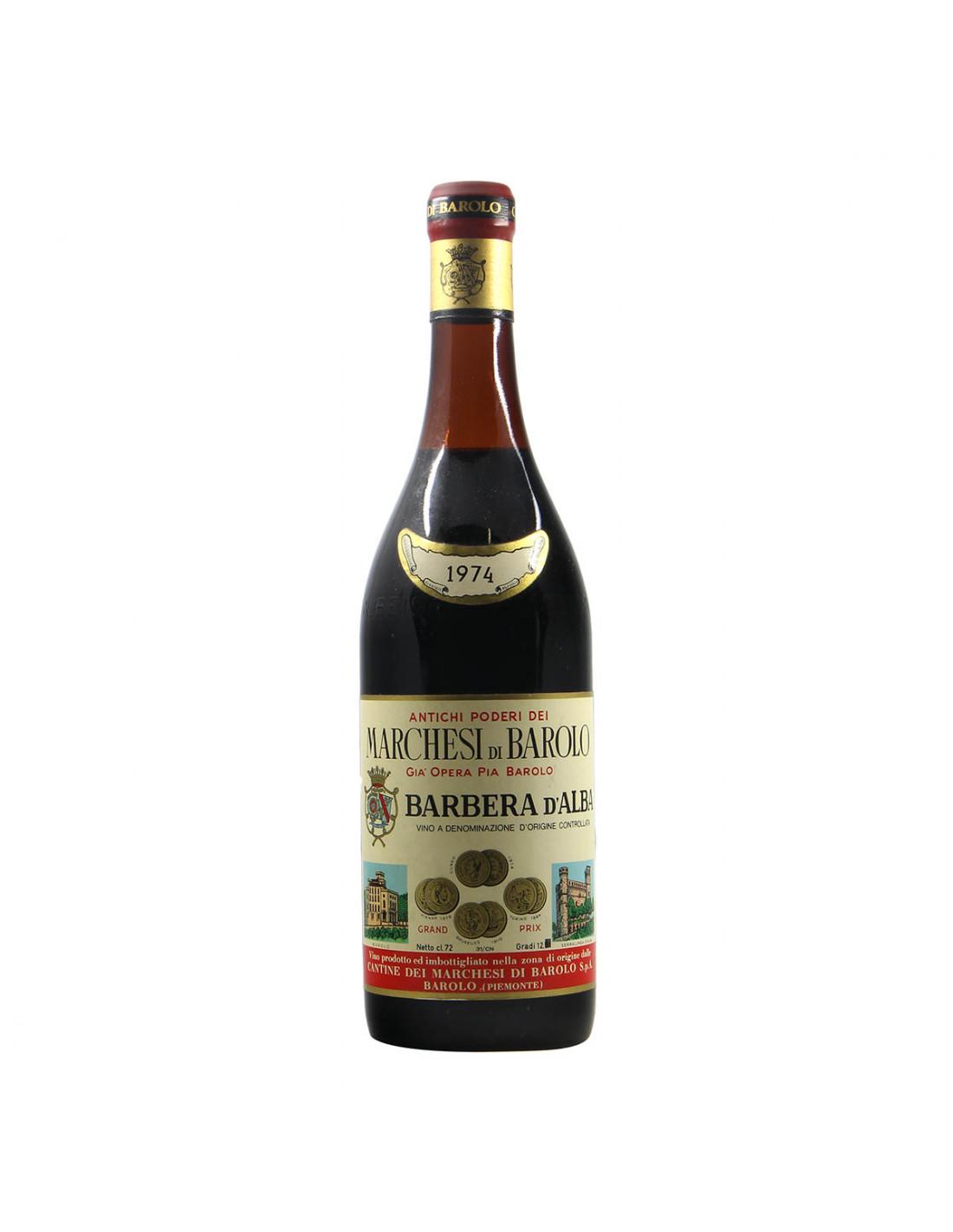 Marchesi di Barolo Barbera d'Alba 1974 Grandi Bottiglie