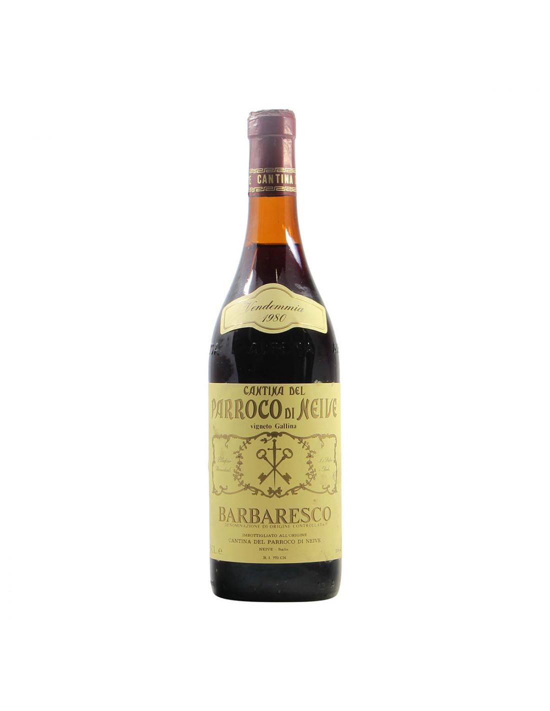Cantina del Parroco di Neive Barbaresco Vigneto Gallina 1980 Grandi Bottiglie