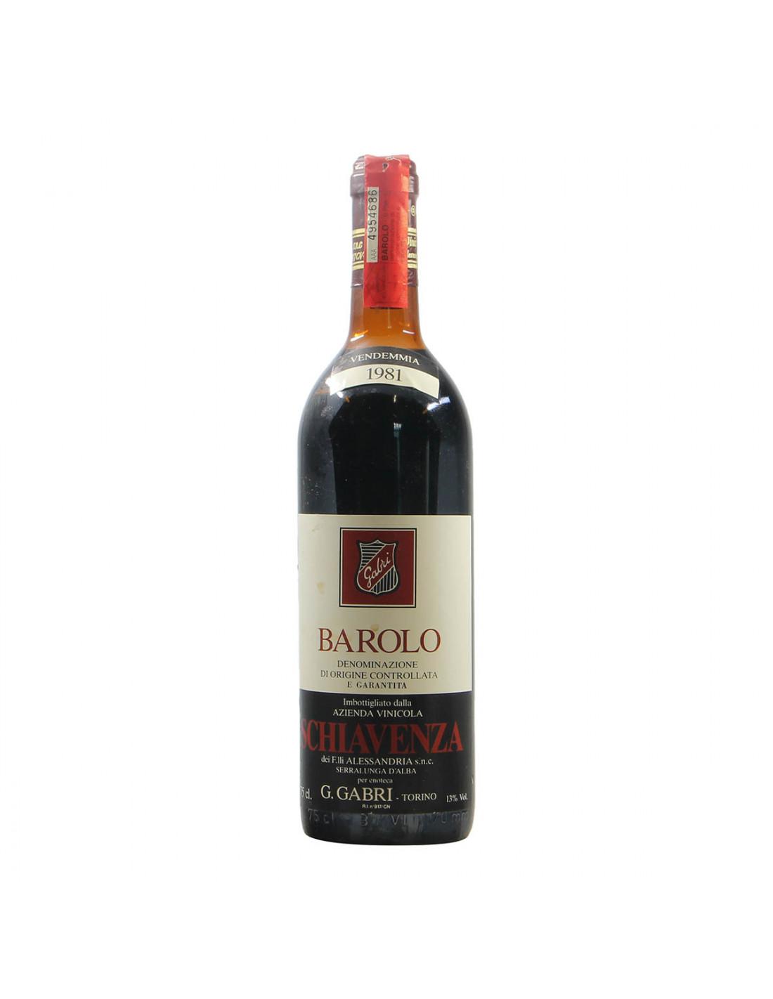 Schiavenza Barolo 1981 Grandi Bottiglie